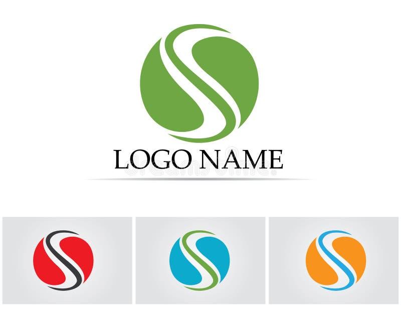Biznesowy korporacyjny listowego S loga projekta wektor royalty ilustracja
