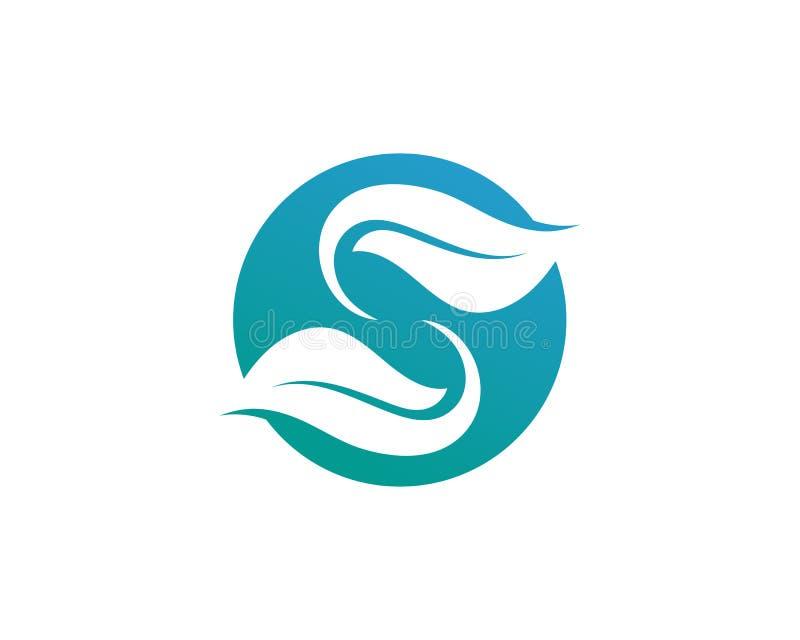 Biznesowy korporacyjny listowego S loga projekta wektor ilustracja wektor