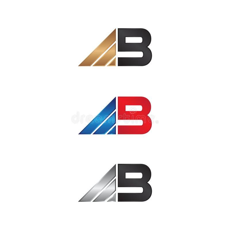 Biznesowy korporacyjny listowy b loga pojęcia projekt na białym tle royalty ilustracja