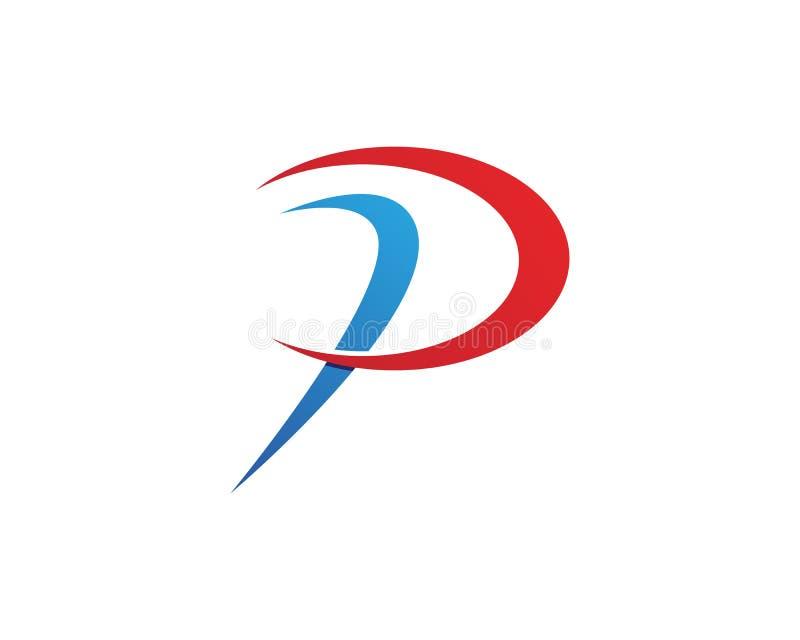 Biznesowy korporacyjny listu P loga projekta wektor ilustracji