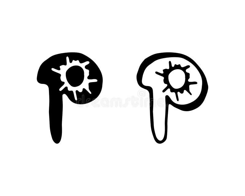 Biznesowy korporacyjny listu P loga projekta wektor ilustracja wektor