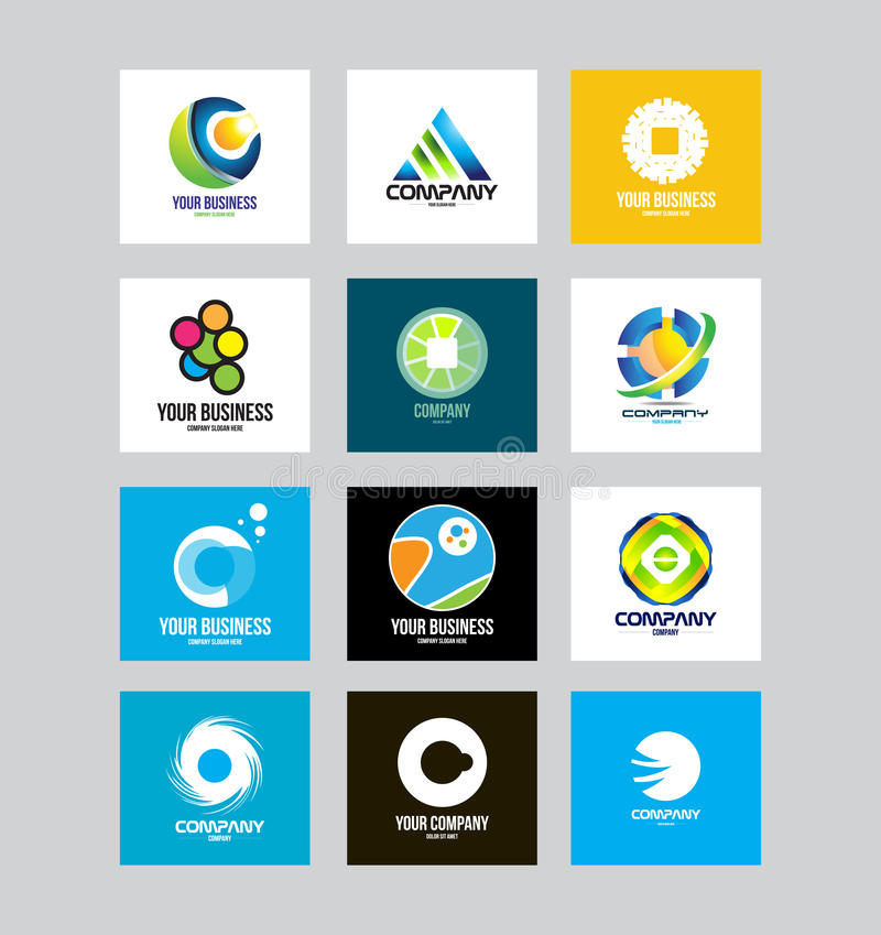 Biznesowy Korporacyjny loga set royalty ilustracja