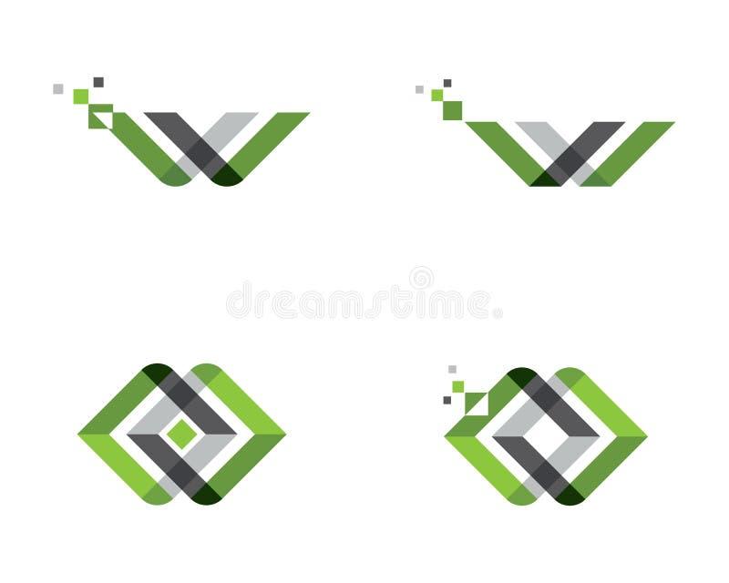 Biznesowy korporacyjny loga szablon ilustracji