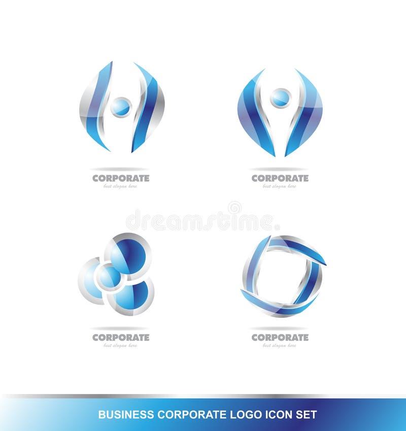 Biznesowy korporacyjny logo ikony set royalty ilustracja