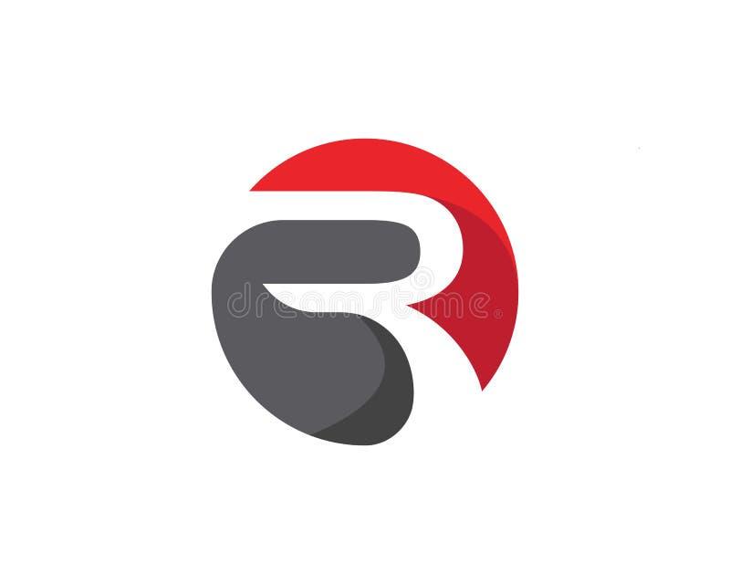 Biznesowy korporacyjny R loga projekta wektor ilustracja wektor