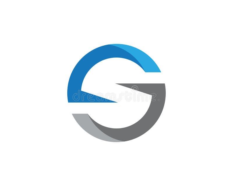 Biznesowy korporacyjny S listu loga projekta wektor ilustracji