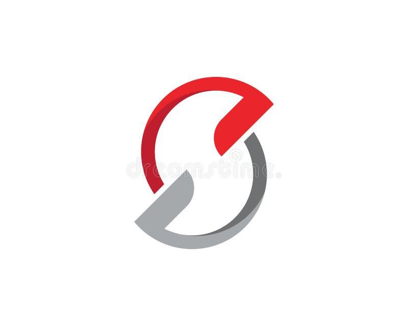 Biznesowy korporacyjny S listu loga projekta wektor royalty ilustracja