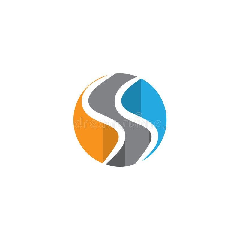 Biznesowy korporacyjny S listu logo royalty ilustracja