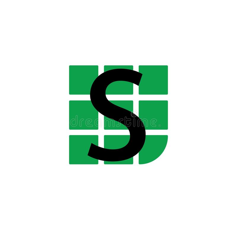Biznesowy korporacyjny S listu logo ilustracji