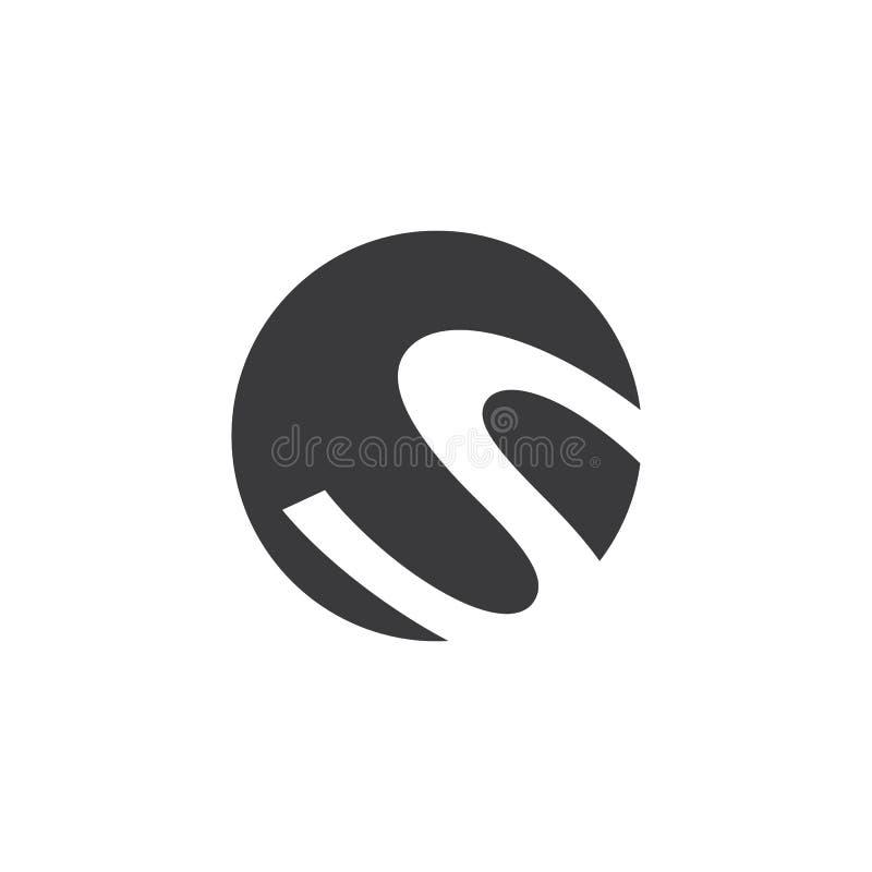 Biznesowy korporacyjny S listu logo ilustracja wektor