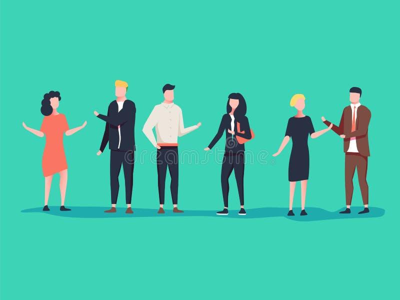Biznesowy korporacyjny spotkanie Pojęcie biznesu ilustracja royalty ilustracja