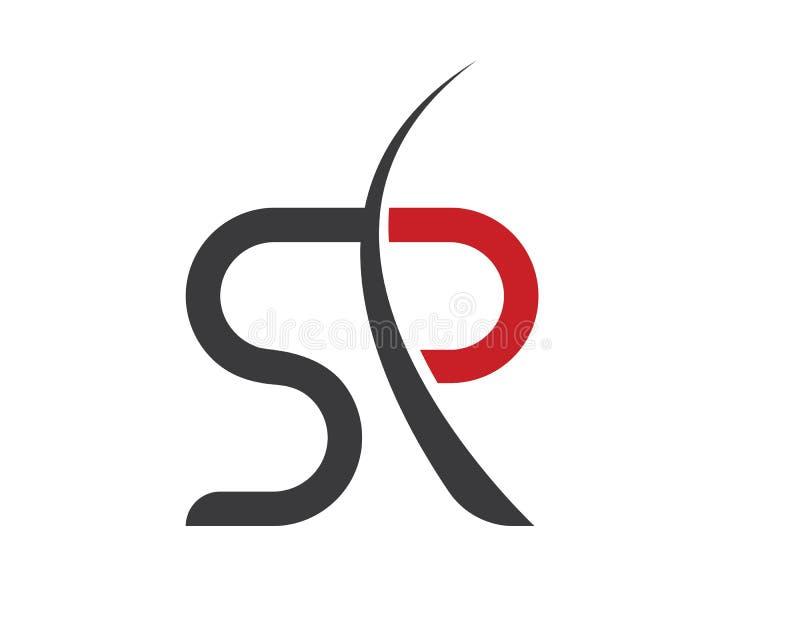 Biznesowy korporacyjny SR, SP logo listowy projekt ilustracja wektor