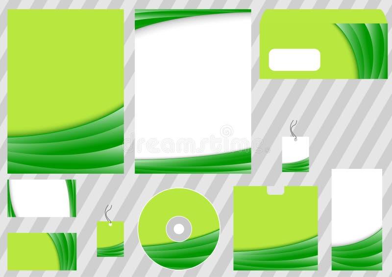 biznesowy korporacyjny zielony szablon ilustracja wektor