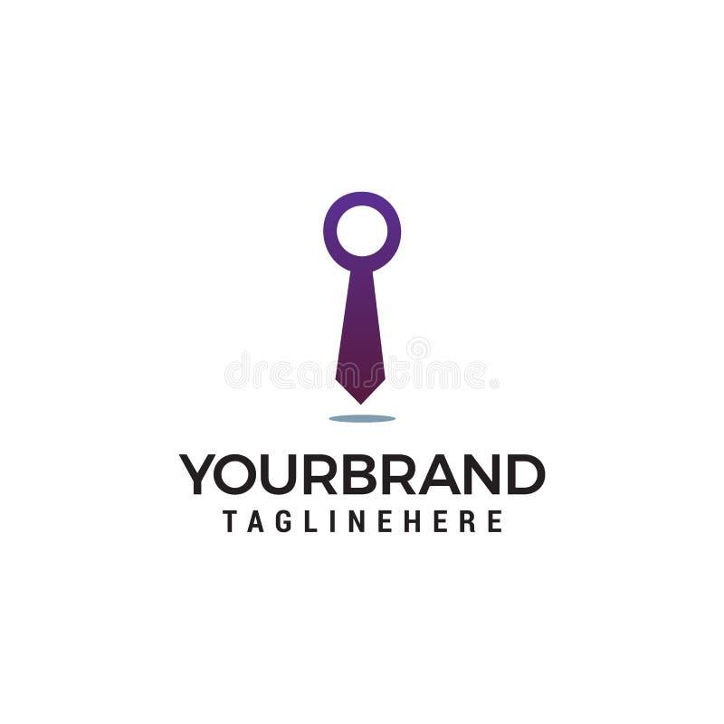 Biznesowy krawata logo szablon ilustracji