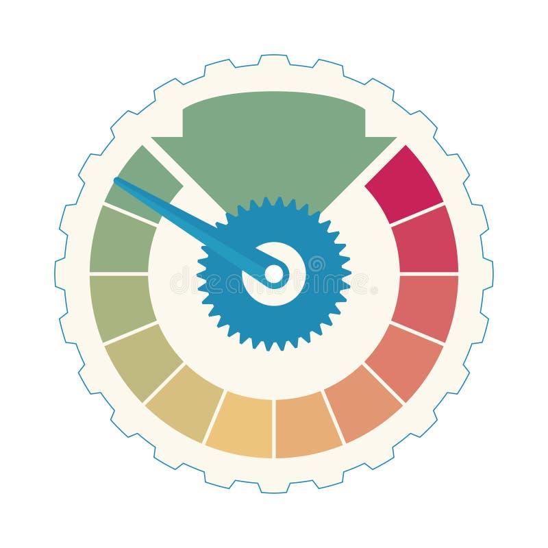 biznesowy Kredytowy wynik Zadowolenie klienta wskaźników poziomy Przyśpiesza ratingową ikony ilustrację Kolorowy grafika zapas ilustracji