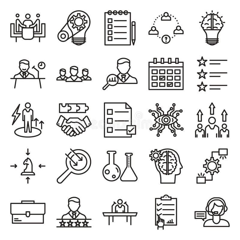 Biznesowy Kreskowy wektor Odizolowywająca pojęcie ikona może łatwo redagować i Modyfikująca ilustracja wektor