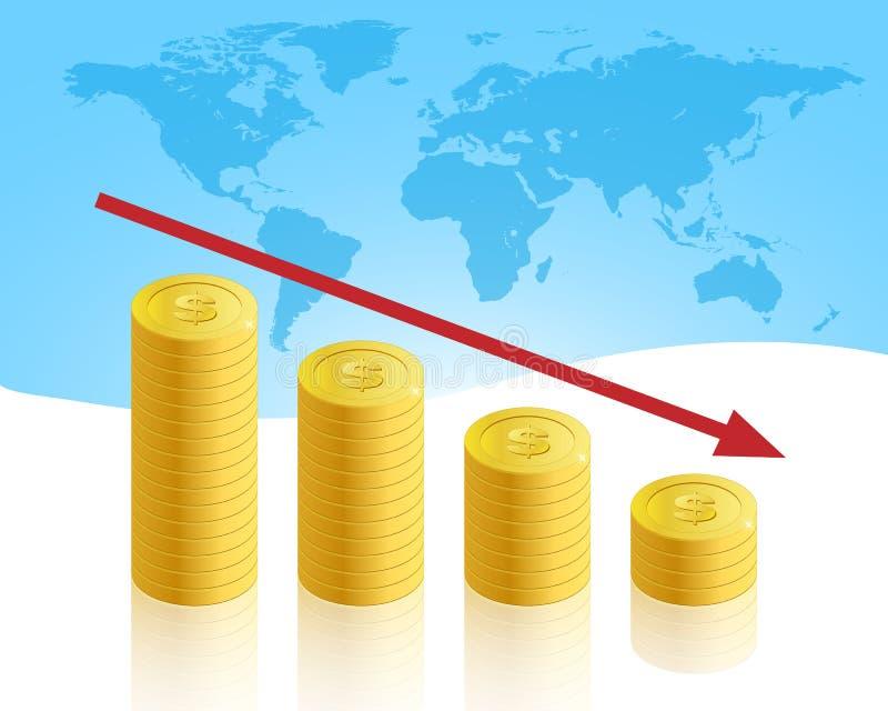 biznesowy kryzys ilustracja wektor