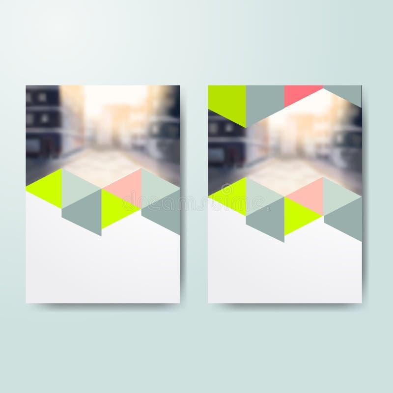 Biznesowy Książkowej pokrywy projekta szablon w A4 Szablon dla ulotki pokrywy, prezentacja, broszurka, sprawozdanie roczne, magaz royalty ilustracja