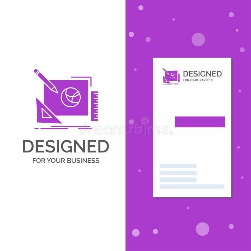 Biznesowy logo dla logo, projekt, kreatywnie, pomys?, projekta proces Pionowo Purpurowy biznes, Odwiedza? Karcianego szablon/ kre ilustracja wektor