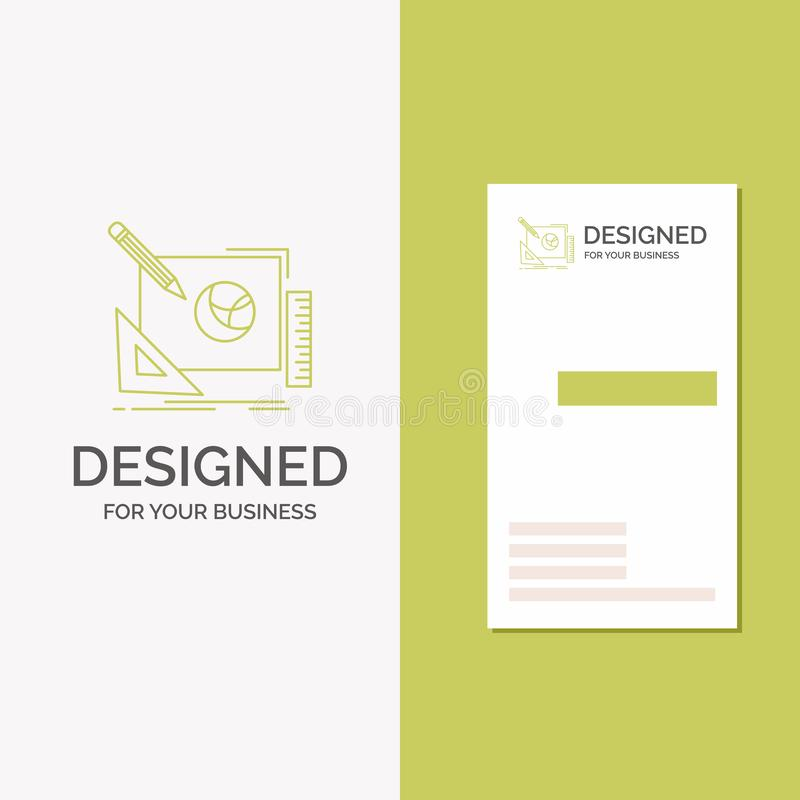 Biznesowy logo dla logo, projekt, kreatywnie, pomys?, projekta proces Pionowo Zielony biznes, Odwiedza? Karcianego szablon/ kreat royalty ilustracja