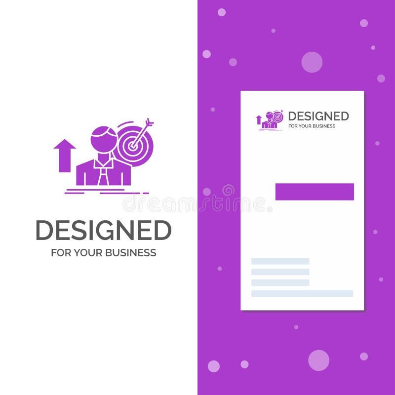 Biznesowy logo dla sukcesu, użytkownik, cel, dokonuje, przyrost Pionowo Purpurowy biznes, Odwiedza? Karcianego szablon/ kreatywne royalty ilustracja