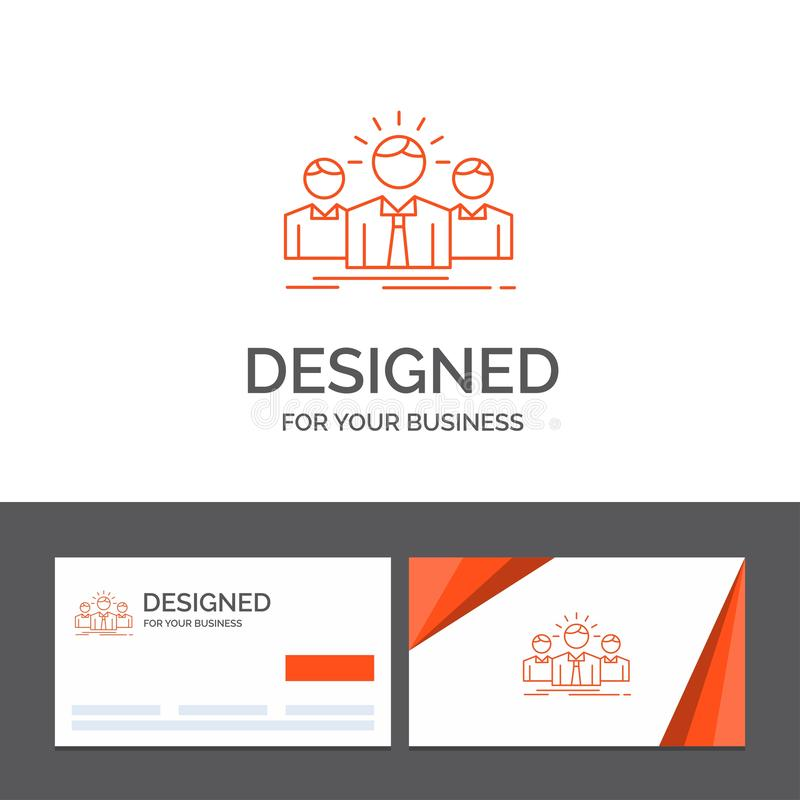 Biznesowy logo szablon dla biznesu, kariera, pracownik, przedsi?biorca, lider Pomara?cze Odwiedza karty z gatunku logo szablonem ilustracji