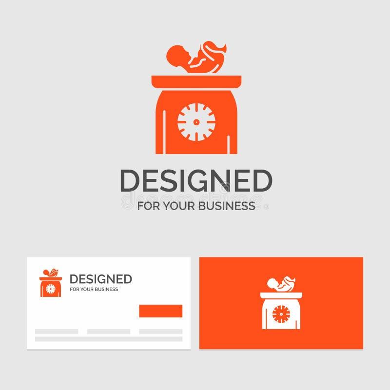 Biznesowy logo szablon dla ciężaru, dziecko, Nowonarodzony, skale, dzieciak Pomara?cze Odwiedza karty z gatunku logo szablonem ilustracji