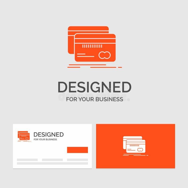 Biznesowy logo szablon dla Deponować pieniądze, karta, kredyt, debet, finanse Pomara?cze Odwiedza karty z gatunku logo szablonem ilustracji