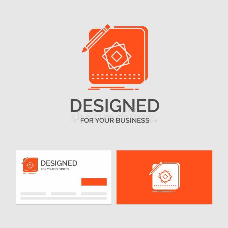 Biznesowy logo szablon dla projekta, App, logo, zastosowanie, projekt Pomara?cze Odwiedza karty z gatunku logo szablonem royalty ilustracja