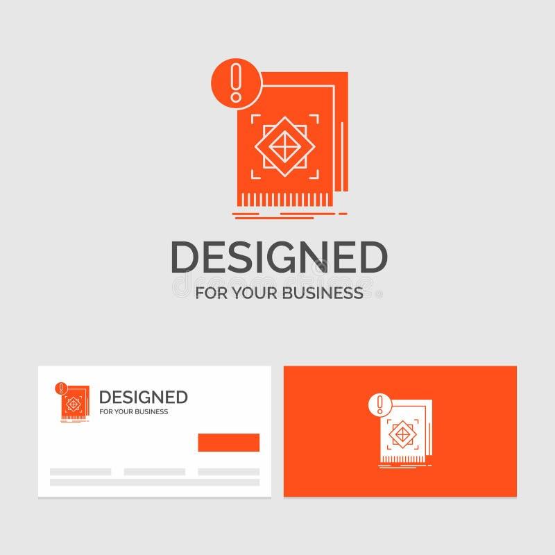 Biznesowy logo szablon dla struktury, standard, infrastruktura, informacja, ostrze?enie Pomara?cze Odwiedza karty z gatunku logo  ilustracji