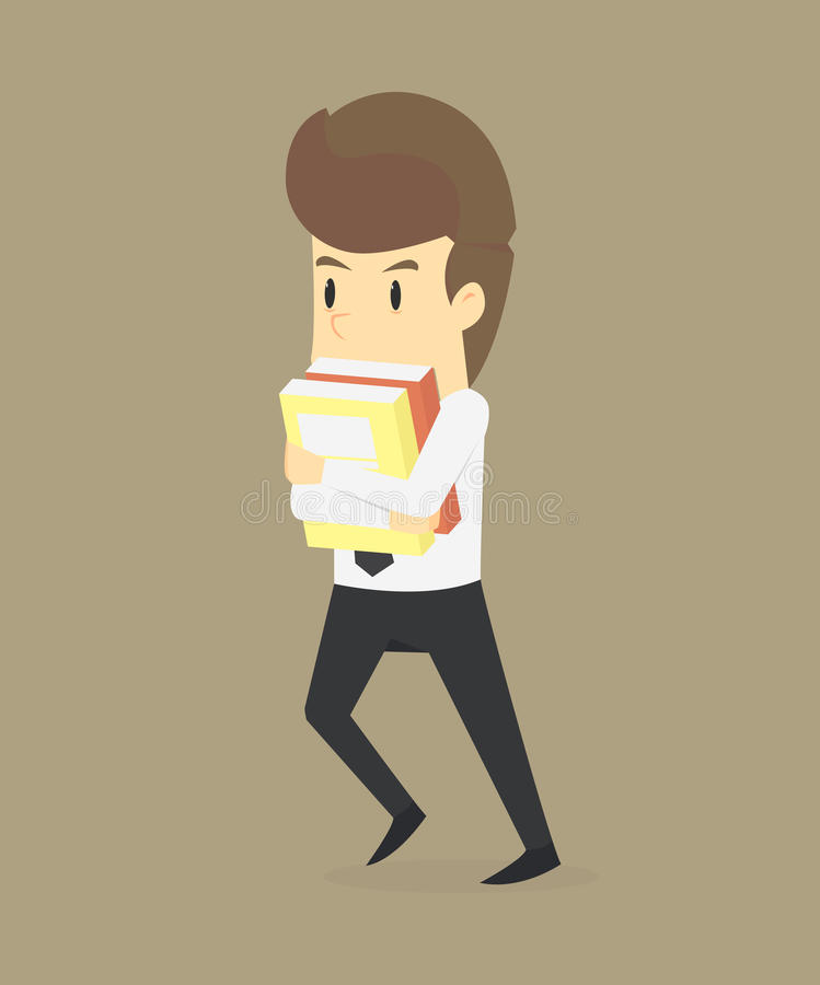 Biznesowy mężczyzna Śpieszący się Pracować ilustracji