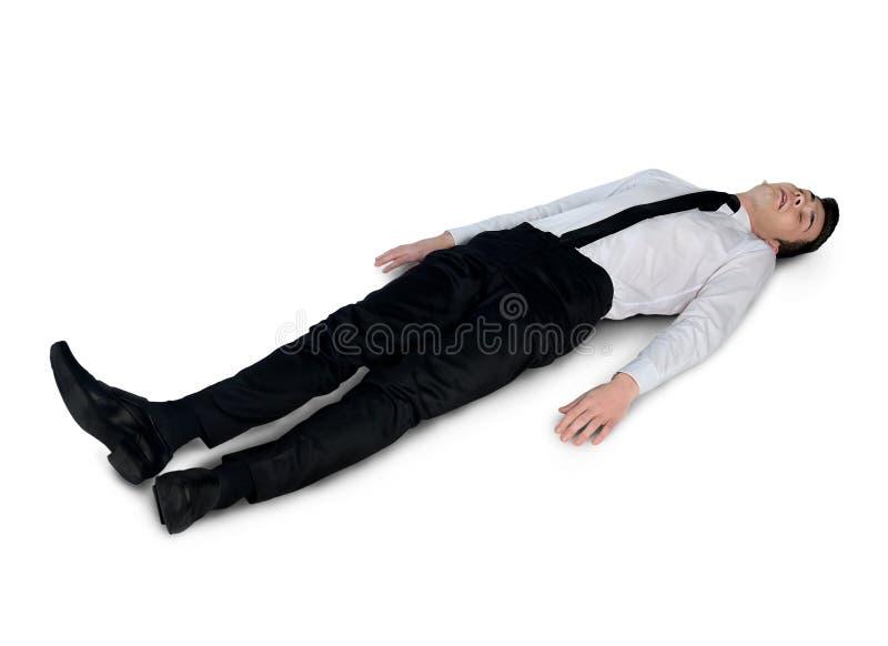 Biznesowy mężczyzna bardzo męczący zdjęcie stock