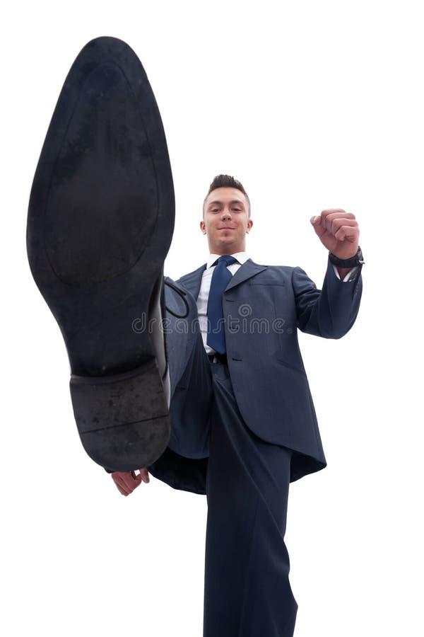 biznesowy mężczyzna coś steping obraz stock