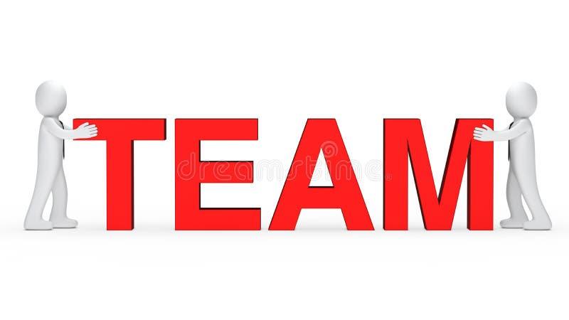 biznesowy mężczyzna czerwieni drużyny słowo ilustracja wektor