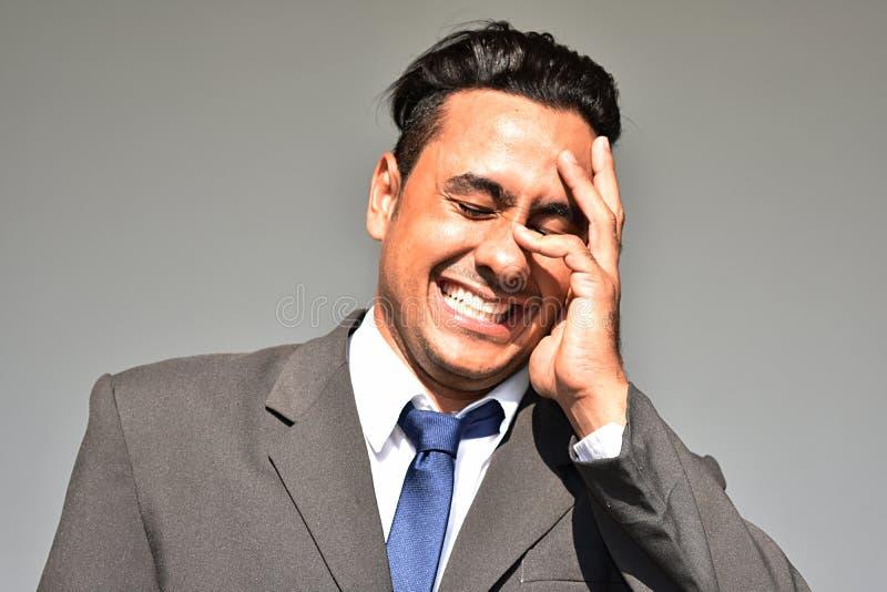 Biznesowy mężczyzna I śmiech zdjęcie royalty free