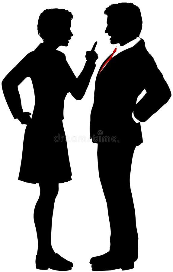 Ludzie biznesu walk dyskutują rozmowy nieporozumienie royalty ilustracja