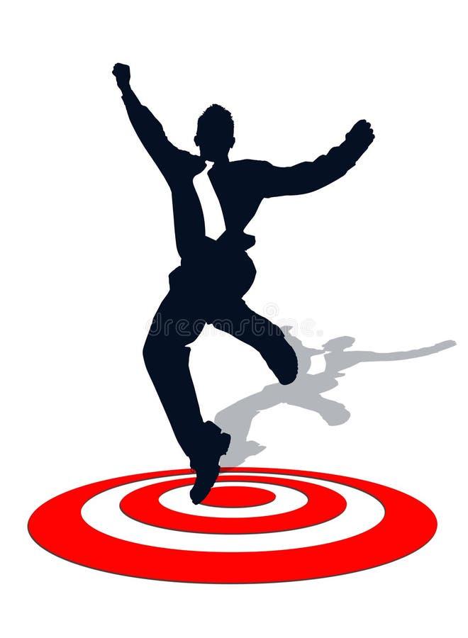 Download Biznesowy Mężczyzna Na Celu Ilustracji - Ilustracja złożonej z sprzedaże, szczęśliwy: 28968250