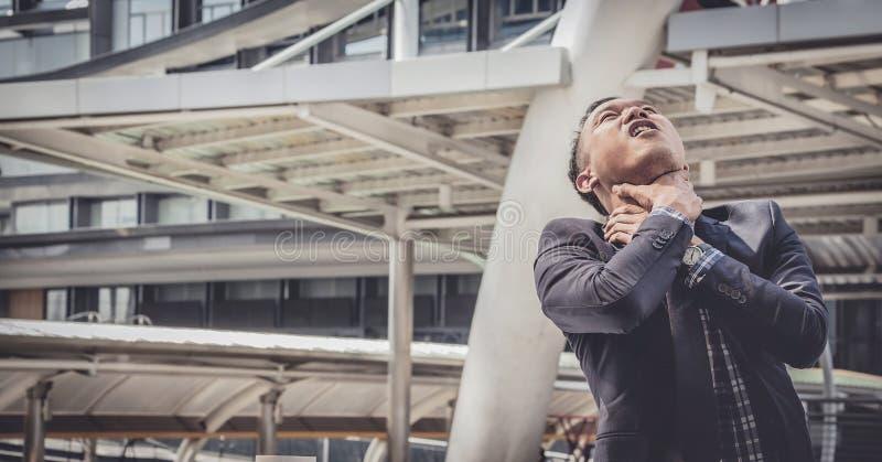 Biznesowy mężczyzna nie udać się czuć i dis beznadziejny, zrozpaczony, smutny, zdjęcie stock