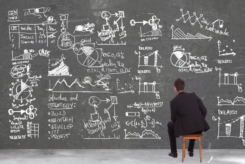 Download Biznesowy Mężczyzna Patrzeje Niektóre Obliczenia Obraz Stock - Obraz złożonej z zadumany, samiec: 28955443