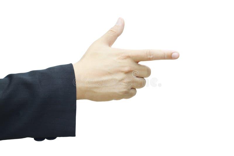 Biznesowy mężczyzna ręki target713_0_ obraz stock