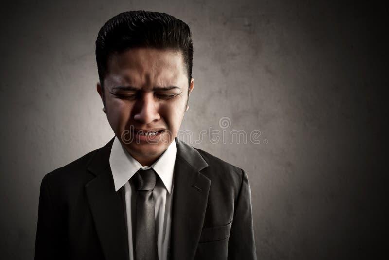 Biznesowy mężczyzna smutny i stess fotografia royalty free
