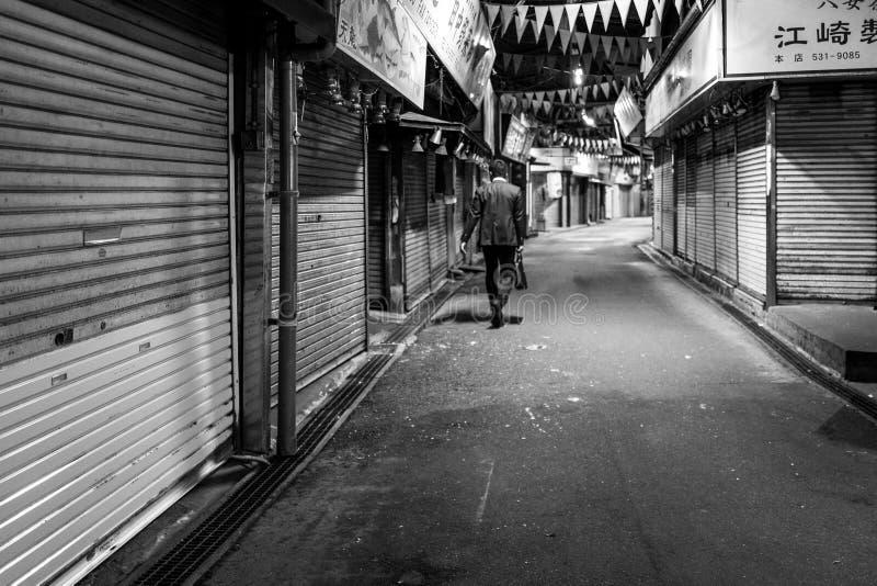 Biznesowy mężczyzna w Fukuoka, Japonia fotografia stock