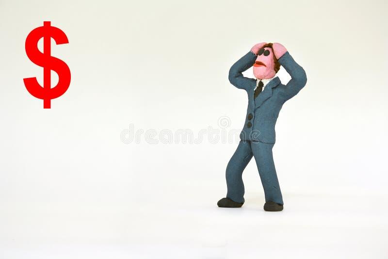 Biznesowy mężczyzna wkurza kogoś out obrazy stock