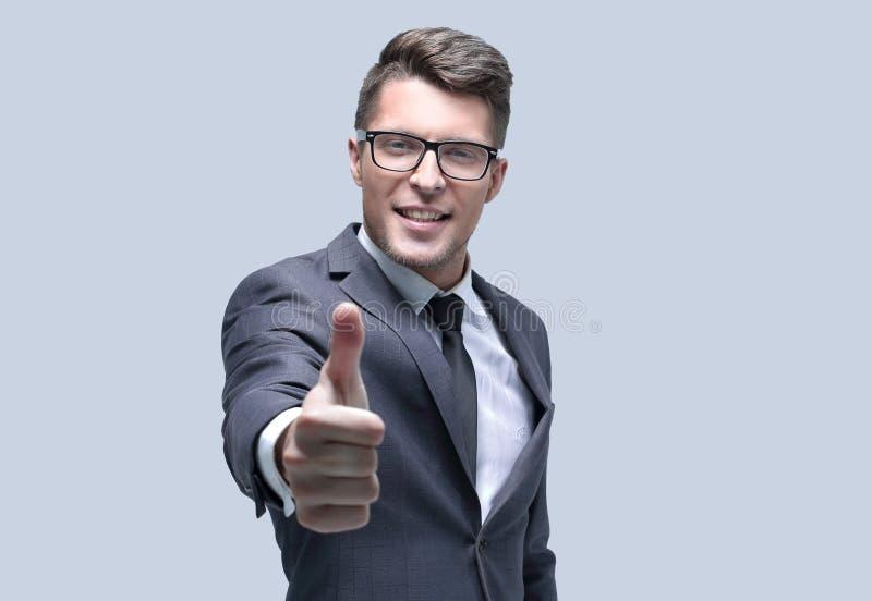 Biznesowy mężczyzna wskazuje jego palec przy tobą zdjęcia royalty free