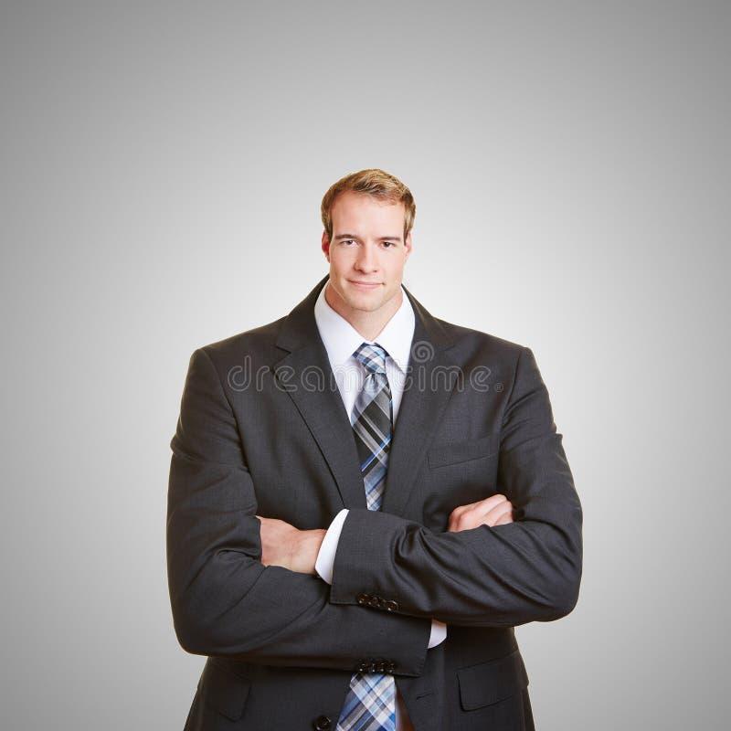 Biznesowy mężczyzna z małą głową zdjęcie royalty free