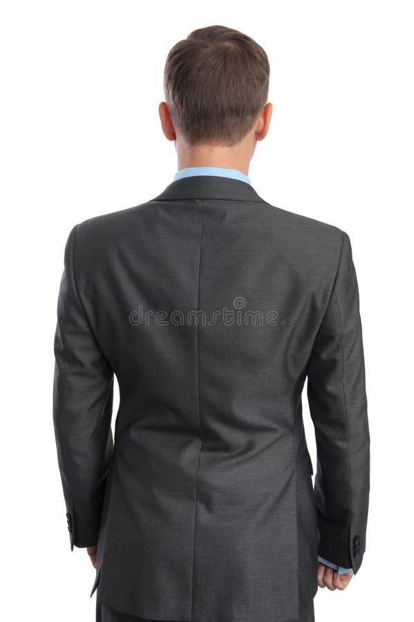 Biznesowy mężczyzna z powrotem widok zdjęcia stock