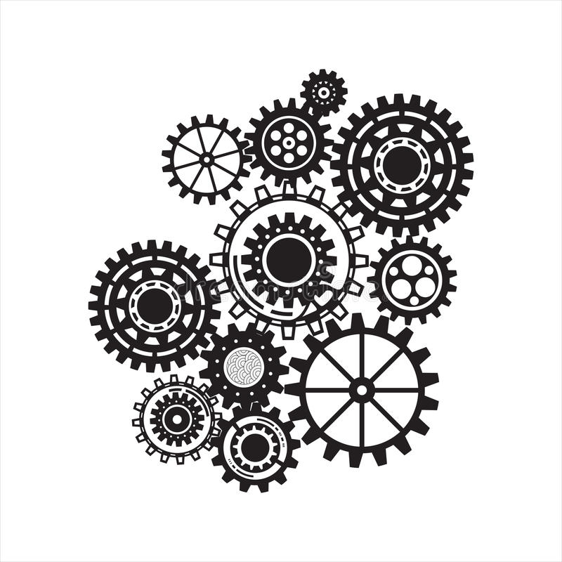 Biznesowy mechanizmu pojęcie Ð ikony dla strategii i, usługa ilustracji