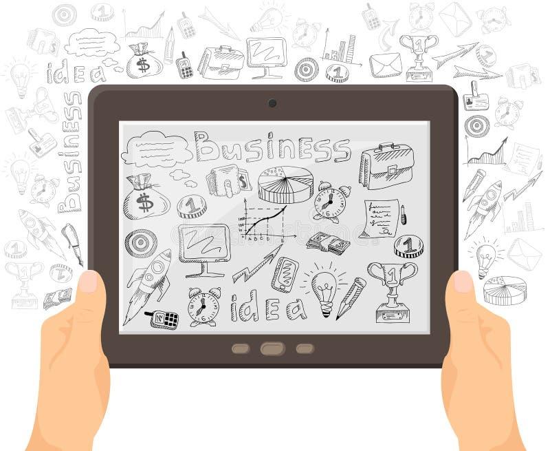 Biznesowy mobilny technologii pojęcia sztandar ilustracji