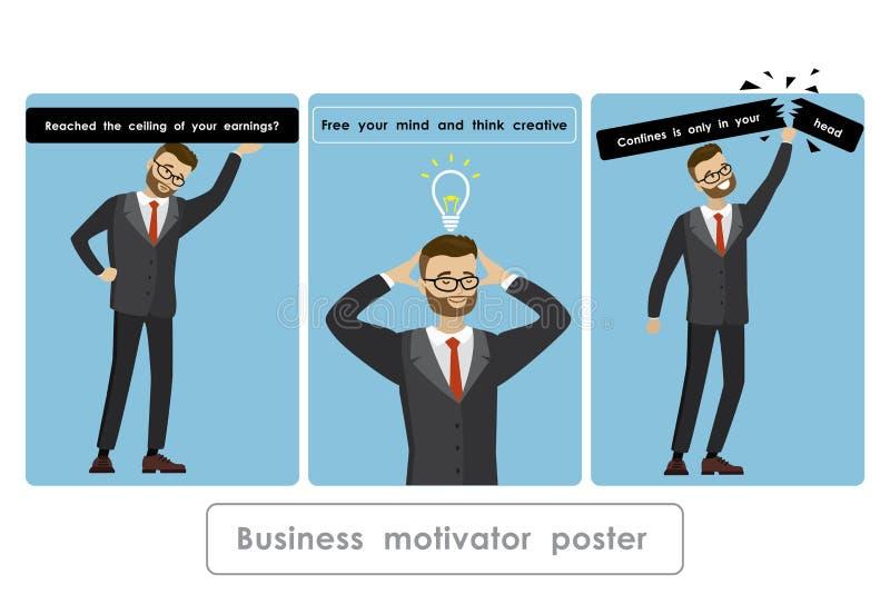 Biznesowy motivator sztandar ilustracja wektor