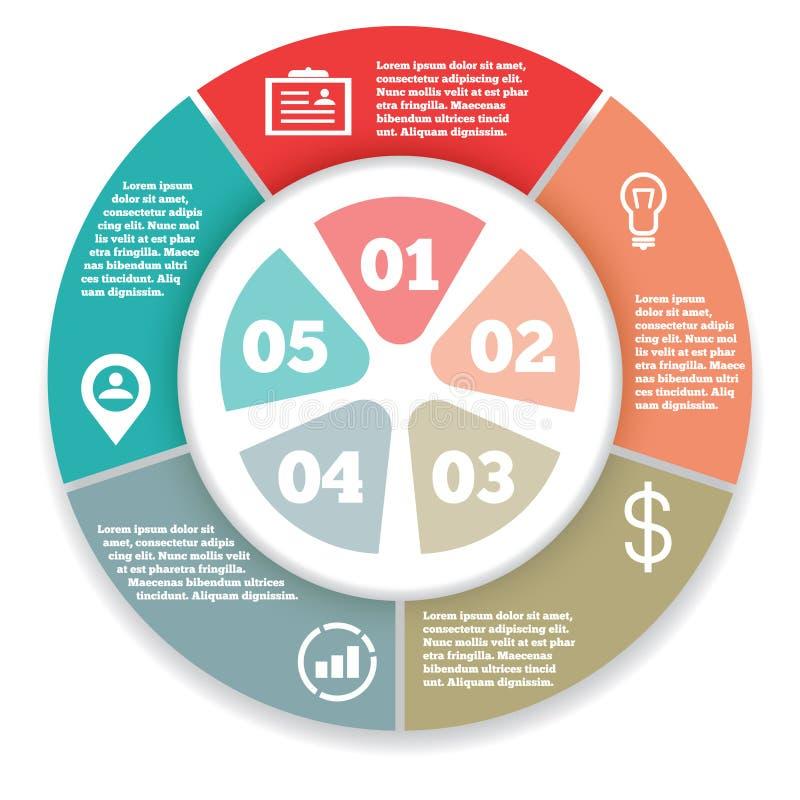 Biznesowy okrąg infographic, diagram, prezentacja ilustracja wektor